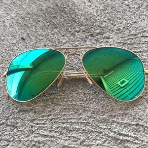 Rayban Aviator Flash Sunglasses - LIKE NEW!!!